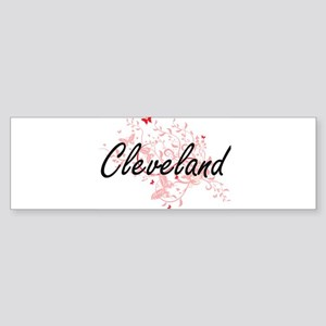 Cleveland Ohio City Artistic design Bumper Sticker