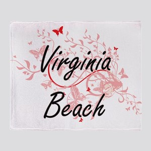 Virginia Beach Virginia City Artisti Throw Blanket