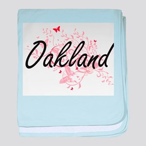 Oakland California City Artistic desi baby blanket