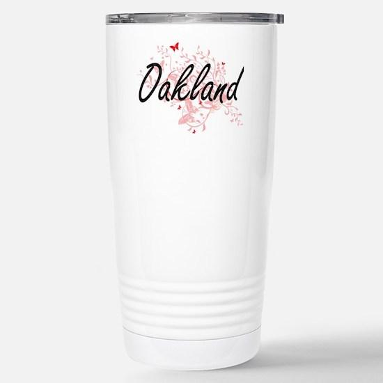 Oakland California City Stainless Steel Travel Mug