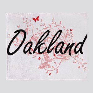 Oakland California City Artistic des Throw Blanket