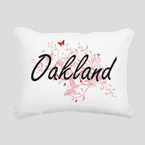 Oakland California City Rectangular Canvas Pillow
