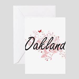 Oakland California City Artistic de Greeting Cards