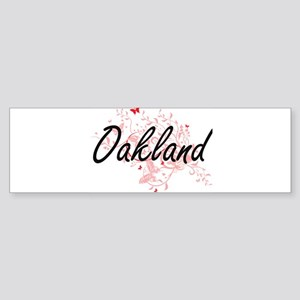 Oakland California City Artistic de Bumper Sticker
