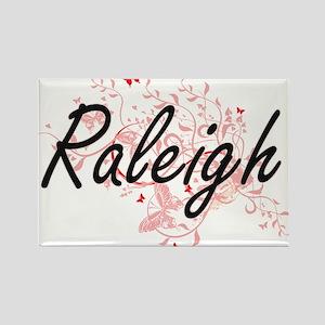 Raleigh North Carolina City Artistic desig Magnets