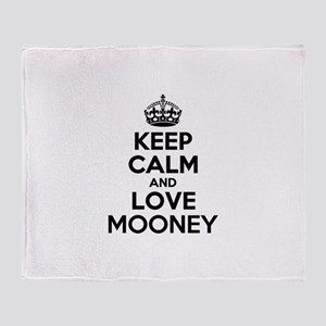 Keep Calm and Love MOONEY Throw Blanket