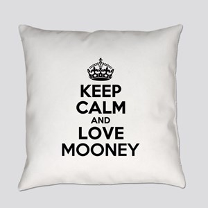 Keep Calm and Love MOONEY Everyday Pillow