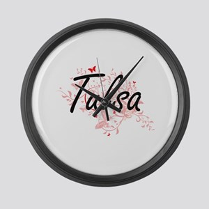 Tulsa Oklahoma City Artistic desi Large Wall Clock