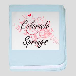 Colorado Springs Colorado City Artist baby blanket