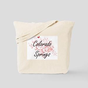 Colorado Springs Colorado City Artistic d Tote Bag