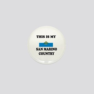 This Is My San Marino Country Mini Button