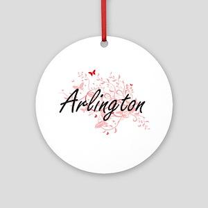 Arlington Texas City Artistic desig Round Ornament