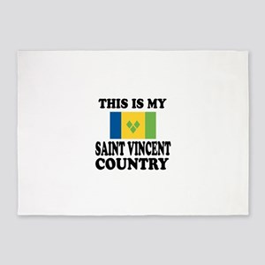 This Is My Saint Vincent Country 5'x7'Area Rug