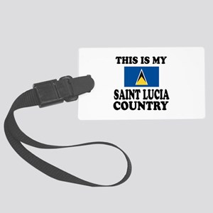 This Is My Saint Lucia Country Large Luggage Tag