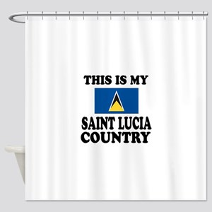 This Is My Saint Lucia Country Shower Curtain