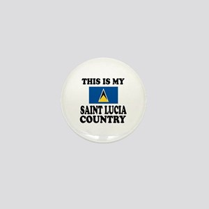 This Is My Saint Lucia Country Mini Button