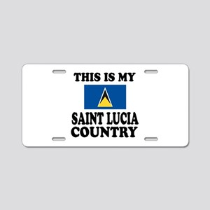This Is My Saint Lucia Coun Aluminum License Plate