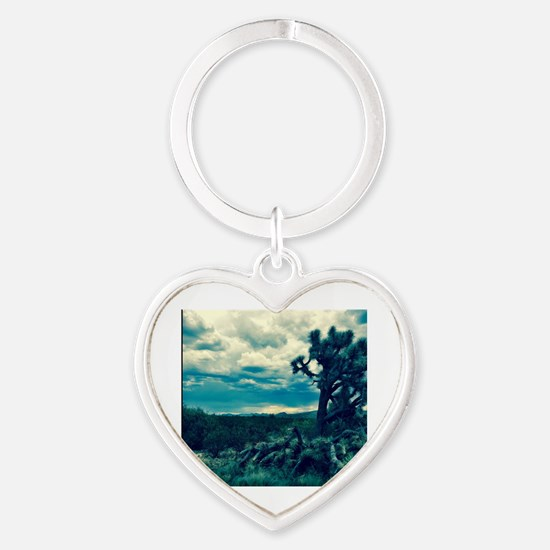 Cute Joshua tree Heart Keychain