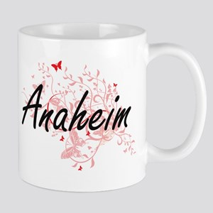 Anaheim California City Artistic design with Mugs