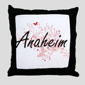 Anaheim California City Artistic desi Throw Pillow