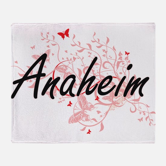Anaheim California City Artistic des Throw Blanket