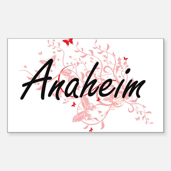 Anaheim California City Artistic design wi Decal
