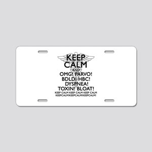 Calm (Veterinary) Aluminum License Plate