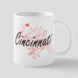 Cincinnati Ohio City Artistic design with but Mugs