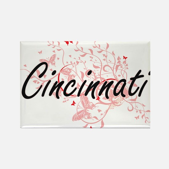 Cincinnati Ohio City Artistic design with Magnets
