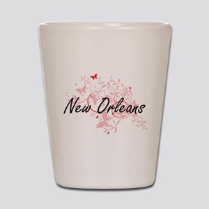 New Orleans Louisiana City Artistic des Shot Glass
