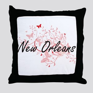 New Orleans Louisiana City Artistic d Throw Pillow