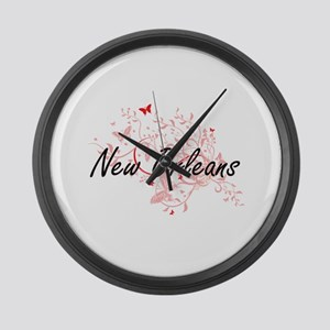 New Orleans Louisiana City Artist Large Wall Clock