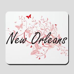 New Orleans Louisiana City Artistic desi Mousepad