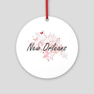 New Orleans Louisiana City Artistic Round Ornament