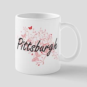 Pittsburgh Pennsylvania City Artistic design Mugs