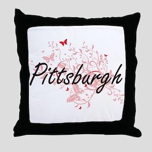 Pittsburgh Pennsylvania City Artistic Throw Pillow