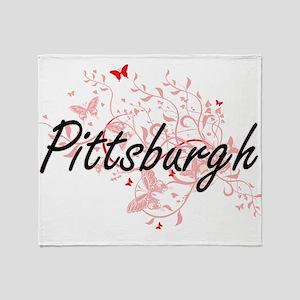 Pittsburgh Pennsylvania City Artisti Throw Blanket