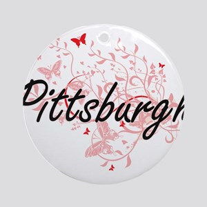 Pittsburgh Pennsylvania City Artist Round Ornament