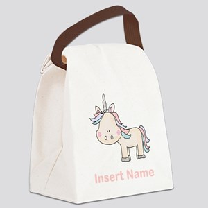 Little Unicorn Personalized Canvas Lunch Bag