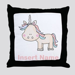 Little Unicorn Personalized Throw Pillow