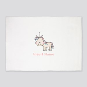 Little Unicorn Personalized 5'x7'Area Rug