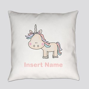 Little Unicorn Personalized Everyday Pillow