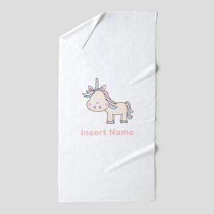 Little Unicorn Personalized Beach Towel