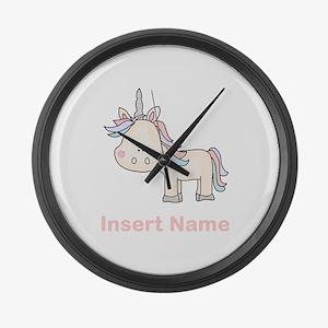 Little Unicorn Personalized Large Wall Clock