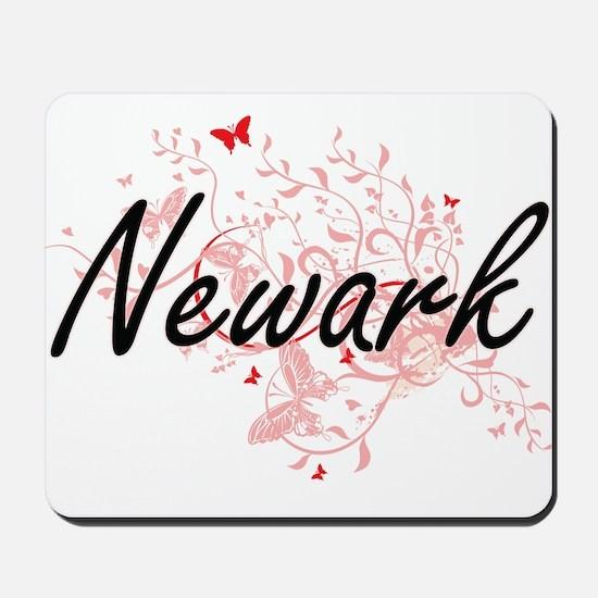 Newark New Jersey City Artistic design w Mousepad