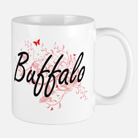 Buffalo New York City Artistic design with bu Mugs