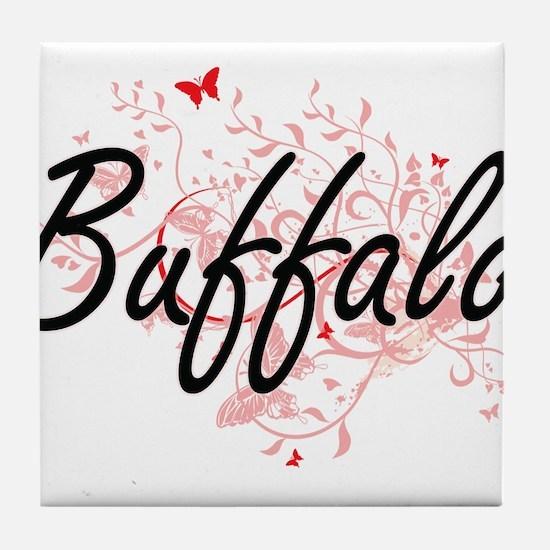 Buffalo New York City Artistic design Tile Coaster
