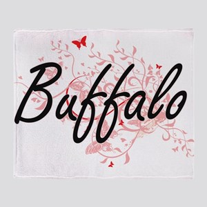 Buffalo New York City Artistic desig Throw Blanket