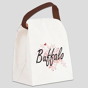 Buffalo New York City Artistic de Canvas Lunch Bag