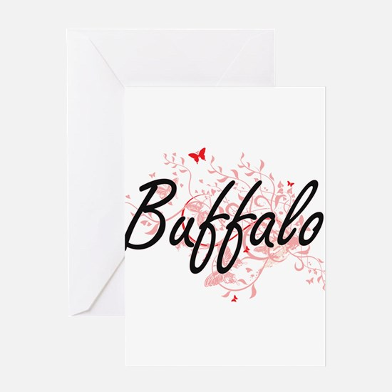 Buffalo New York City Artistic desi Greeting Cards